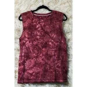 Maroon/ Pink Acid Wash Top